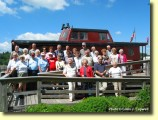 Tour Groups Welcome!: A bus tour from Valley Forge enjoyed their visit to the Tunnels Park & Museum in August, 2003.